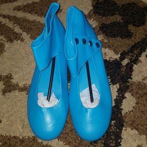 Shoes - Turquoise Rhinstone Flats